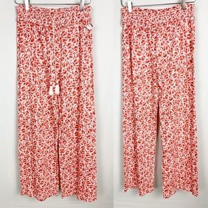 FLOREAT   Floral Wide Leg Tassel Pajama Pants
